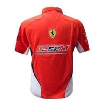 Camisa Ferrari Polo Escuderia F1 Vermelha Camiseta Ferrari