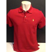 Camiseta Polo Ralph Lauren Vermelho Cavalo Amarelo Tam Gg