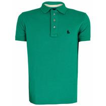 Camiseta Polo Cor Verde Story Original S&f Tamanho P Ao Xxg