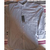 Camisa Social Masc Bruno Conte - Cinza/branco Tam M (40)