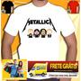 Camiseta Bandas South Park Camisa Ramones Nirvana Metallica