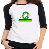Camiseta Raglan Curso Engenharia Elétrica - Feminino
