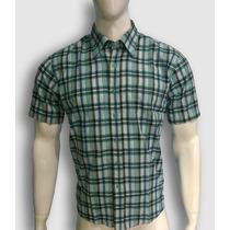 Camisa Masculina Xadrez Listrada Manga Curta