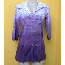 Camisa Feminina Estilo Minivest Degradê Xadrez M