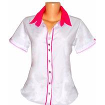 Camisa Feminina Manga Curta Blusa Feminina Dudalinda Flor