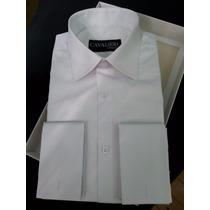 Camisa 100% Algodão Fio Egípcio 120. Branca Lisa, Sob Medida