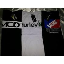 3 Camisas Skate Vans + Hurley+ Mcd - Oferta C/ Frete Grátis