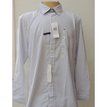 Tommy Hilfiger : Camisa Social Manga Longa Custon Fit G