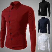 Garanta A Sua !! Camisa Elegante Slim Fit 2015 Compre Agora!