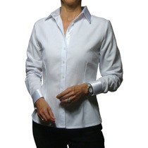 Camisa Feminina Social Manga Longa Maquineta 40 1006