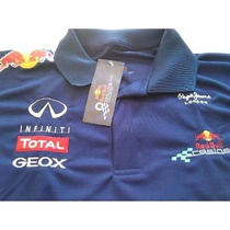 Camisa Red Bull Formula 1 Racing Team Gola Polo Azul