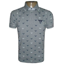 Camisa Polo Armani Cinza Ga810