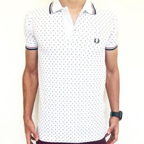 Polo Masculina Fred Perry Branca Original