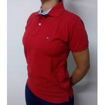 Camisa Polo Feminina Tommy Hillfiger Kit C/5 + Uma De Brinde