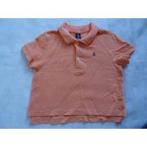 Camisa Polo Baby Gap Infantil Laranja Importada 1 Ano