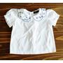 Camisa De Bebê Gola Bordada Vintage
