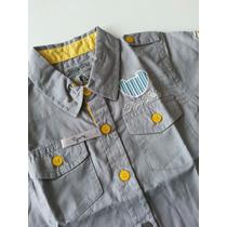 Camisa Tigor T. Tigre Baby Cinza E Detalhes - Tam 2p E 3p