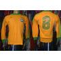 Brasil 1978-79 Camisa Mangas Longas Adidas De Jogo M # 8.