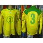 Brasil 2004 Camisa Titular Mangas Longas De Jogo Número 3.