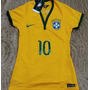 Camisa Brasil Amarela Feminina Copa Do Mundo 2014 Baby Look