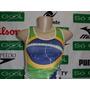 Regata Brasil Feminina Elastano Bandeira Futebol 60% Off