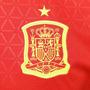 Camisa Gola V Seleção Europeia Espanha Vermelha Manga Curta