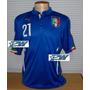 Pronta Entrega: Camisa Italia Copa Do Mundo 2014 #21 Pirlo