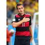 Camisa Alemanha Rubronegra Away Klose 11 + Patchs Copa 2014