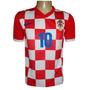Camisa Seleção Croácia Vermelha E Branca Modric