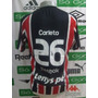 Camisa São Paulo # 26 Carleto Oficial De Jogo Reebok Tam. P