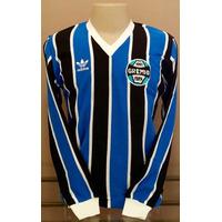 Camisa Retrô Grêmio 1983 Mundial- Manga Longa- Manto Sagrado