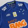 Camisa De Jogo Cruzeiro Olympikus 2014 Azul C/ Patch