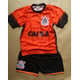 Conjunto Infantil Do Corinthians Bermuda + Camiseta