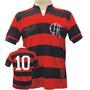 Camisa Flamengo Fla Tri Zico ( Algodão ) - Masculina