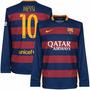 Barcelona Mangas Longas 2016 - Messi, Neymar, Suarez, Arda