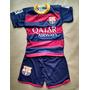 Conjunto Infantil Barcelona Novo Azul Shot E Camiseta Neymar