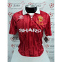 Camisa Manchester United Home 93-94 Bechkam 28 Patch Imp