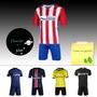 Camisa Futebol Europa Só Camisa Uma Pacote Três Pec