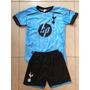 Conjunto Infantil Tottenham Azul Super Promoção
