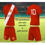 Jogo De Camisa Futebol Personalizado Uniforme Kit Com 11 Cnj