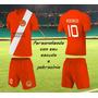 Jogo De Camisa Futebol Personalizado Uniforme Kit Com 10 Cnj