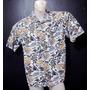 Camisa Grife Op Ocean Pacific Hawaii Aloha Azul Ceu Linda G