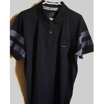 Camisa Polo Masculina Marca Famosa M.officer Azul -tm G