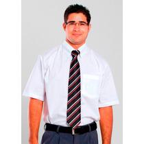 Camisa Social Masculina Manga Curta Microfibra