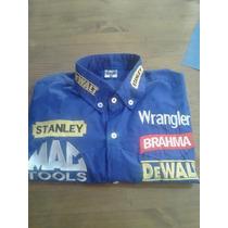 Camisa Rodeio Stanley Dwalt Brahma Wrangler Azul Royal
