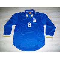 Camisa Seleção Italia Euro 1996 Nike Autentica Mangas Longas