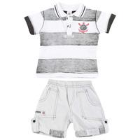 Camisa Corinthians Infantil,polo + Bermuda Oficial