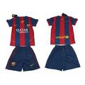 Camisa Barcelona E Calção Barcelona Infantil Crianças 2015