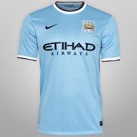 Camisa Nike Manchester City I 2013-2014 S/ Nº Tam. G - Gg
