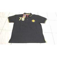Camisa Pólo Manchester United Oficial Preta